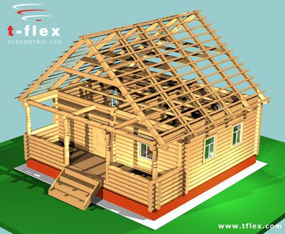 Projekt konstrukcji drewnianego domu.