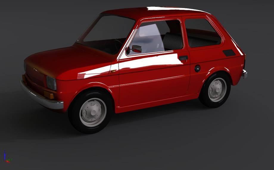 Model Fiata 126p - zabawka