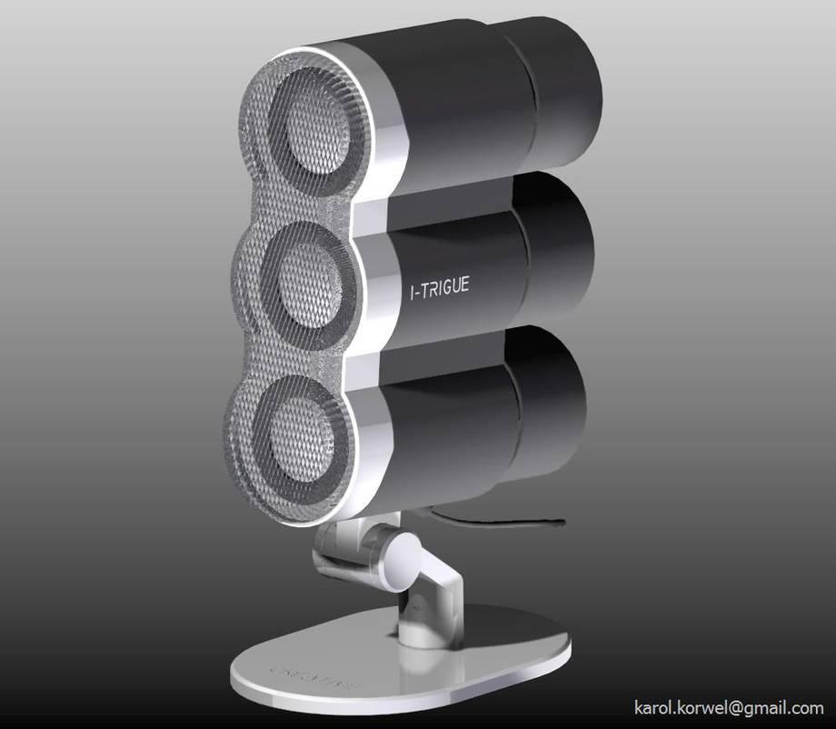 Głośnik Creative I-Trigue zamodelowany w programie Solid Edge v18