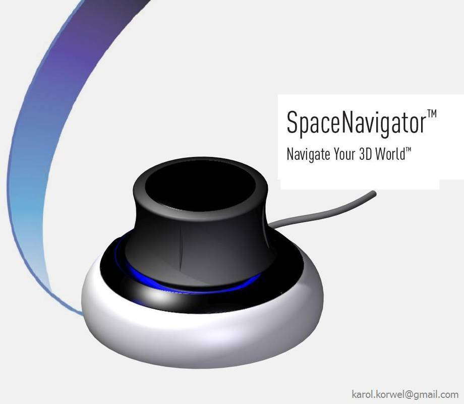 SpaceNavigator firmy 3Dconnexion zamodelowany w programie Solid Edge v18