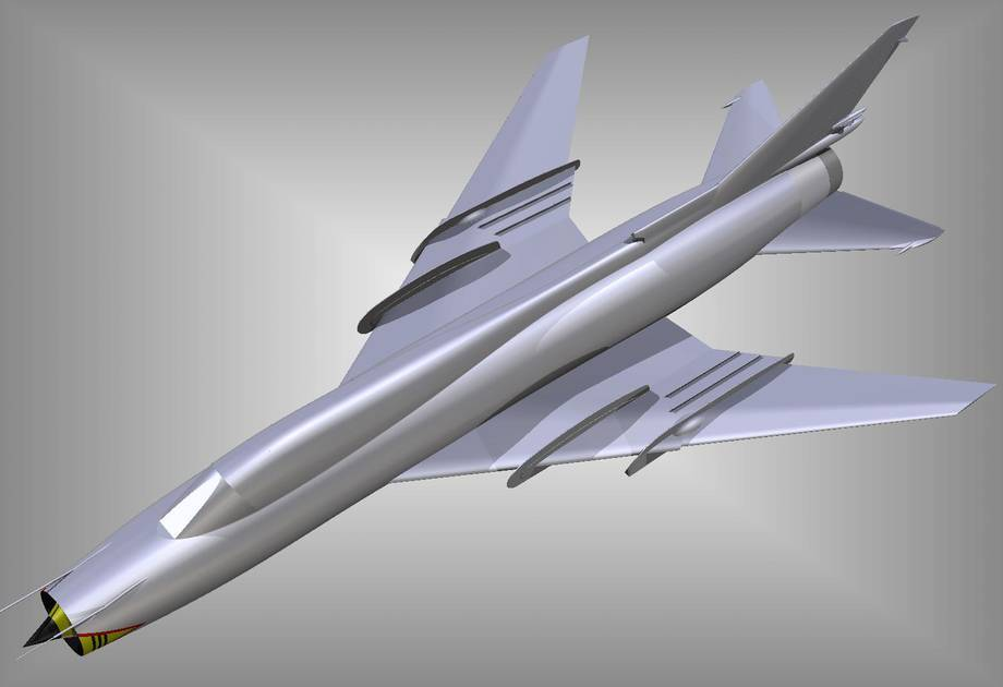 Wizualizacja myśliwca bombardującego Su-22M4