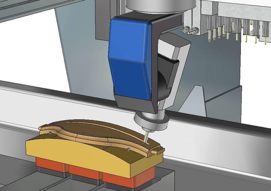 Przykłady obróbki elemetów drewnianych w systemie CAM specjalizowanym do sterowania takimi maszynami.