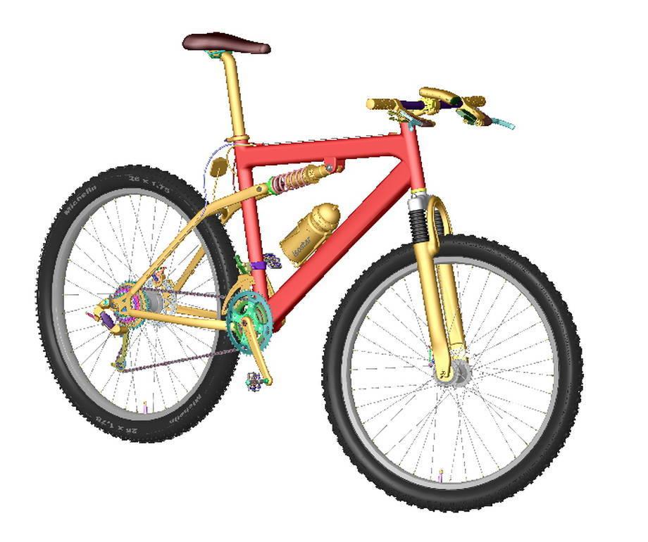 Model roweru 3D w SolidWorks