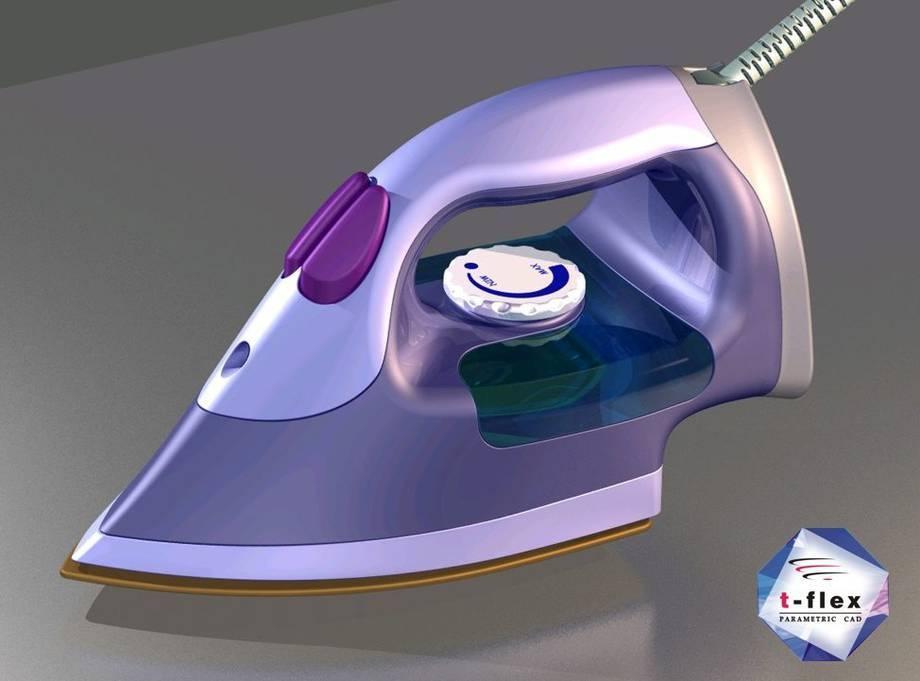 Projekt żelazka wykonany w sytemie T-Flex CAD.