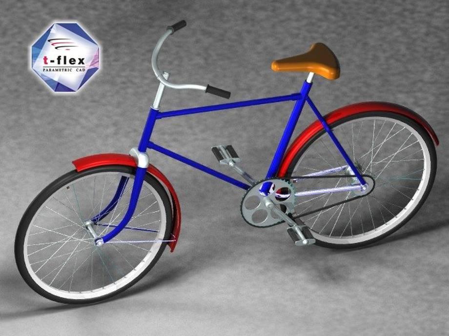Projekt roweru oraz rendering z T-Flex CAD.