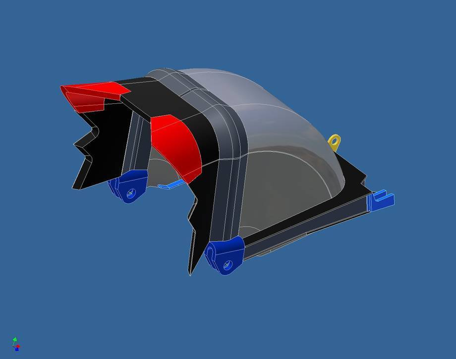 Jest to element, jeden z osiemnastu, koła czerpakowego koparek SRs-2000