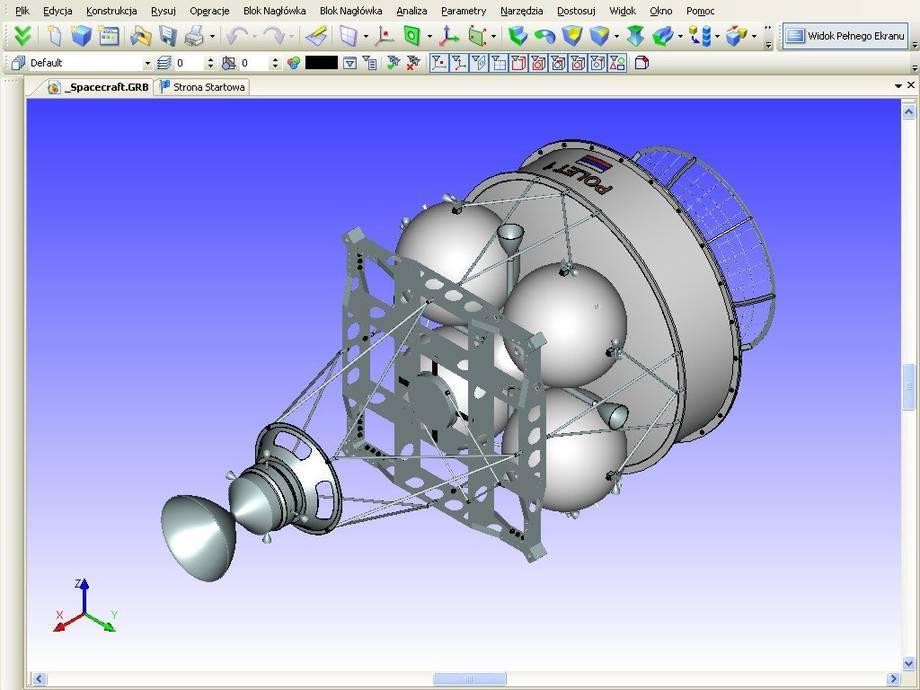 Projekt rosyjskiej satelity w systemie T-Flex CAD