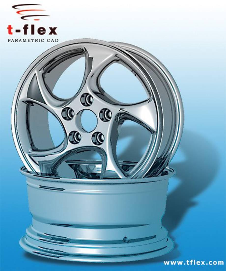Projekt felg ze stopu metali lekkich w T-Flex CAD