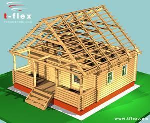 Dom/drewniana konstrukcja