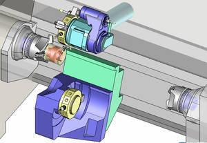 Model maszyny na symulacji obróbki TopSolid CAM