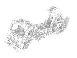 Lego Technic - 8872-1 - Forklift Transporter