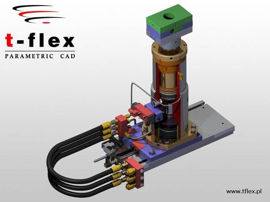 Projekt podnośnika hydraulicznego. Nagroda za korzystanie z nowych możliwości T-FLEX CAD (2007 r.).