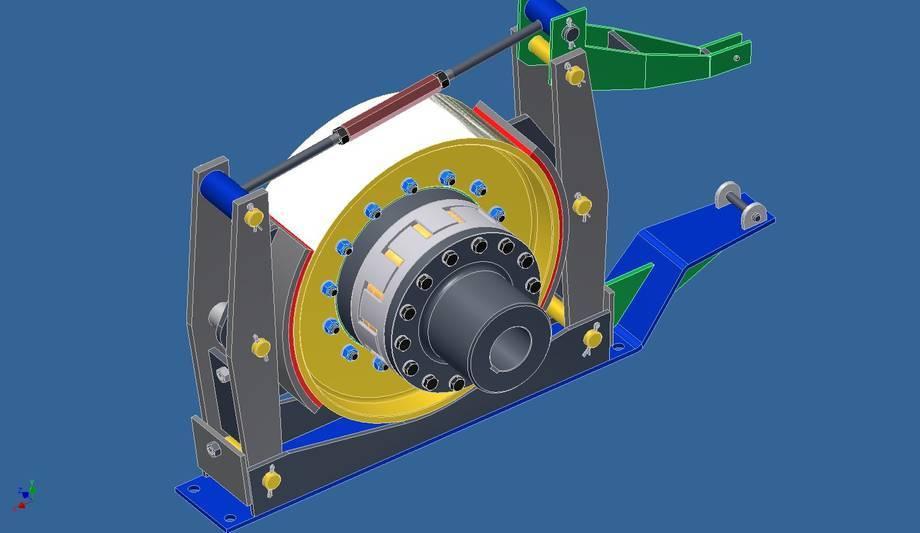 Kompletny zespół sprzęgło-hamulec fi 710