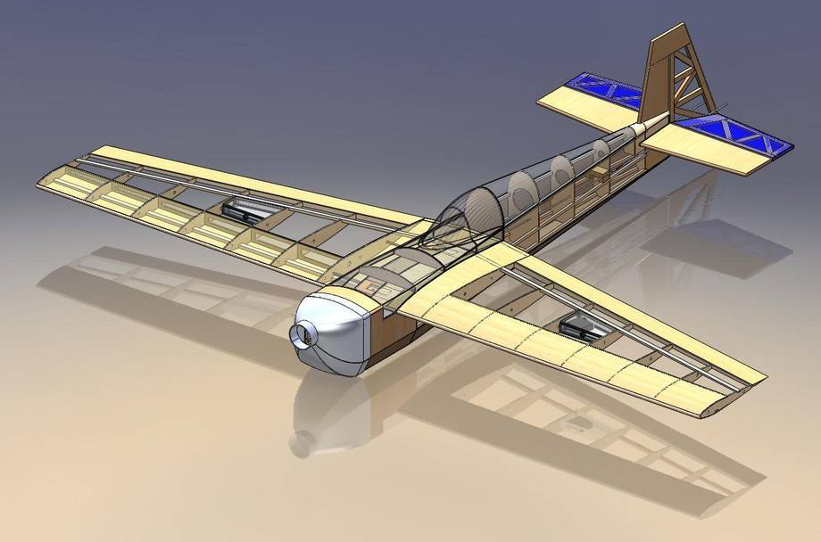 Model modelu samolotu Edgeplane 540
