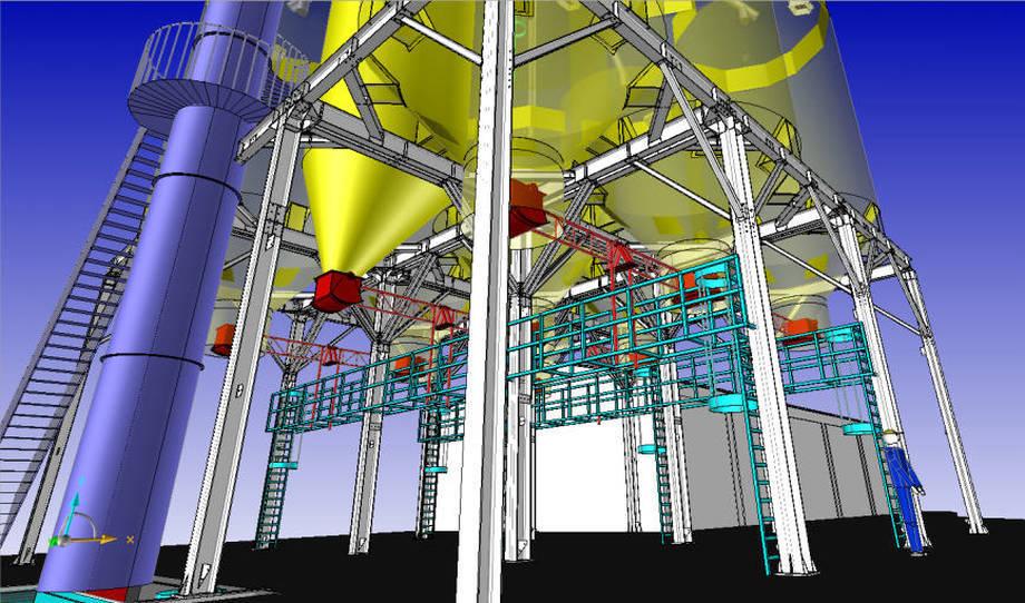 Projekt i wizualizacja konstrukcji zbiorników.