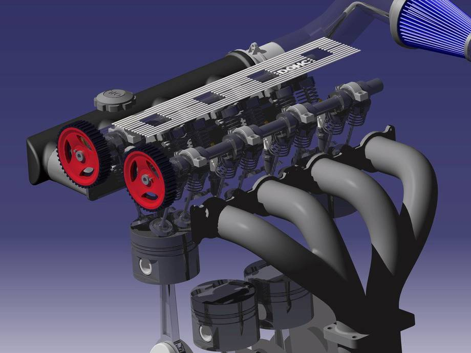 Silnik R4 DOHC