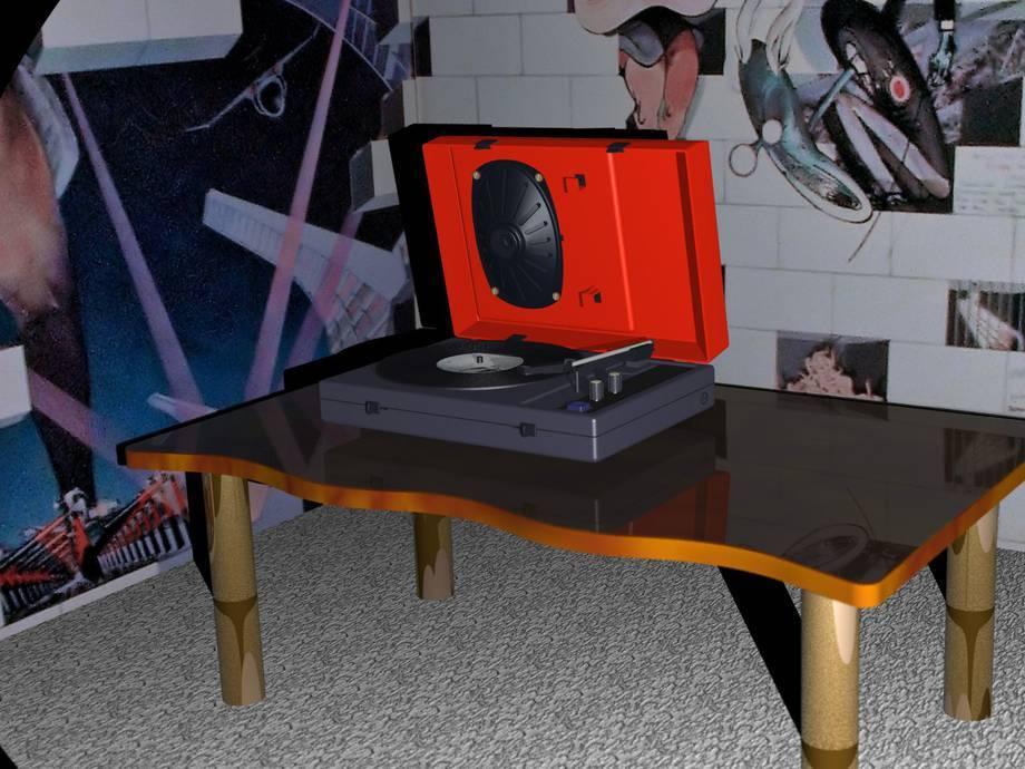 Model gramofonu firmy UNITRA. Wykonany w skali 1:1. Mój pierwszy poważny model wykonany w CATII.