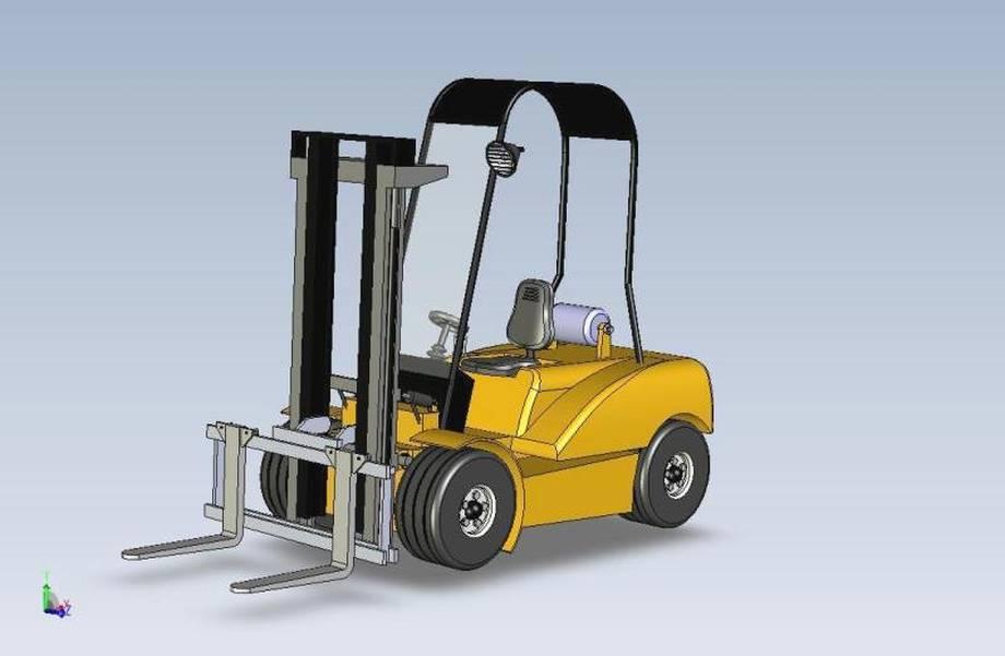 a fork-lift truck