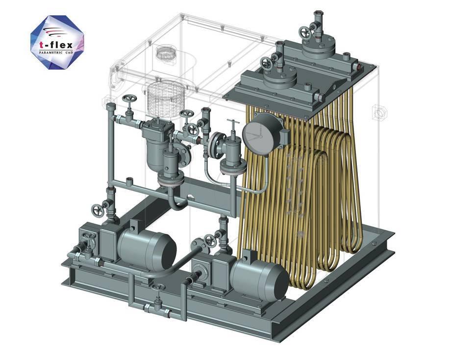 Przykład instalacji rurowej z T-Flex CAD